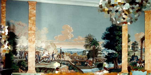 vente exeptionnelle papier peint panoramique la bataille d 39 heliopolis les fran ais en egypte. Black Bedroom Furniture Sets. Home Design Ideas